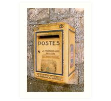 French mailbox Art Print