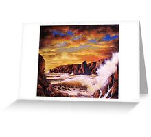 GOLDEN YELLOW SUNSET Greeting Card