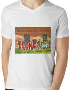 Graffitti Mens V-Neck T-Shirt