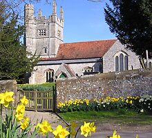 Easter time at All Saints, Barton Stacey, Hampshire, southern England. by Philip Mitchell