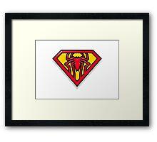 Super Spiderman Logo Framed Print