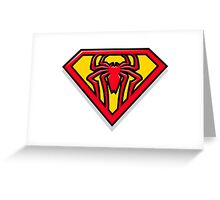 Super Spiderman Logo Greeting Card