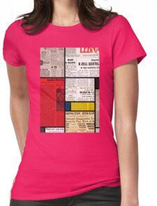 Mondrians News Womens Fitted T-Shirt
