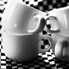 Chequered espresso cups by Andy Duffus