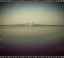 The Sunshine Skyway Bridge  by Virginia N. Fred