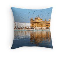 Golden Temple Panorama  Throw Pillow