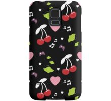 Cherries, Hearts and Music Samsung Galaxy Case/Skin