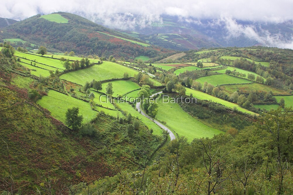 green hills of Galicia by Christopher Barton