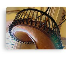 Curved,Carved Stairway Canvas Print