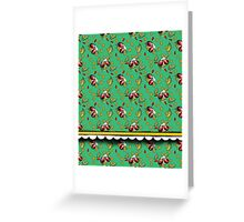 LADYBUGS GREEN Greeting Card