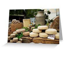 Cheese in the Market Place Greeting Card