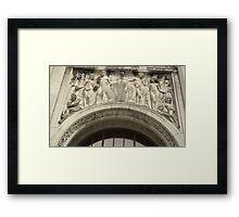 Retro Stone Facade Framed Print