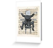 The Happy Pianist Greeting Card