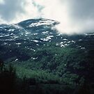 Last Swedish country on way to Narvik 198406180014m by Fred Mitchell
