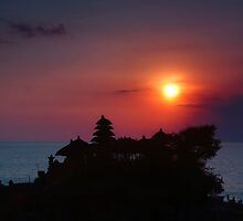 Indonesia  4 - Tanah Lot  sunset by Normf