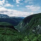 Top of Narvik Fjord Norway 198406180016 by Fred Mitchell