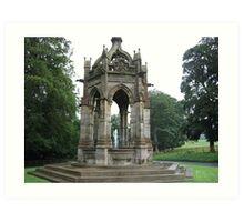 Fountain At Bolton Abbey Art Print