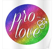 Pro- Love - Gay Poster