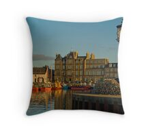 Kirkwall Harbour Throw Pillow