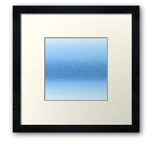 Ombre Shades of Blue Framed Print