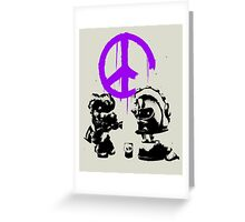 Octarian Peace - Purple Greeting Card