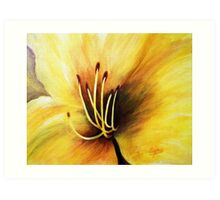 The Lily's heart , Acrylic painting Art Print