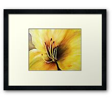 The Lily's heart , Acrylic painting Framed Print