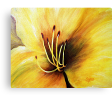 The Lily's heart , Acrylic painting Canvas Print