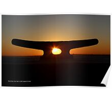 Mooring Sunset | Pond Point, New York Poster