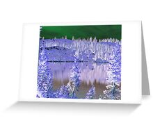 Feeley Lake, abstract Greeting Card