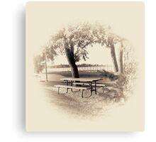 Picnic Table Vignette Canvas Print