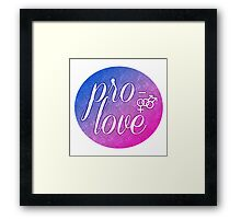 Pro- Love- Bisexual Male Framed Print