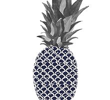 geometric pineapple by kirsten-leigh
