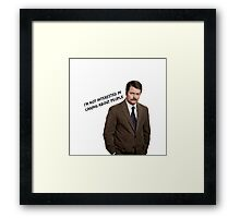 Parks and Rec Ron Swanson Framed Print