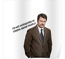 Parks and Rec Ron Swanson Poster