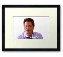 Parks and Rec Chris Traeger Framed Print