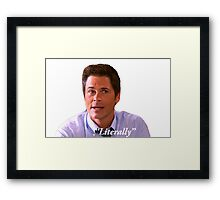 Parks and Rec Chris Traeger Literally Framed Print