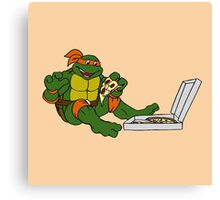 TMNT - Michelangelo with Pizza Canvas Print