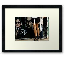 Matrix vs High-Heels Framed Print