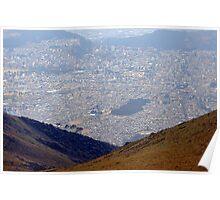 Quito from el Pichincha Poster