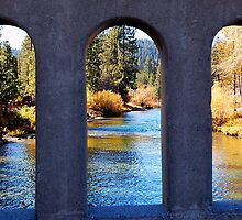 River Through Arches by tom j deters