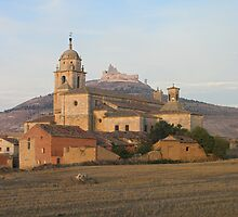 Colegiata Virgen del Manzano church at sunrise, Castrojeriz by Christopher Barton