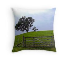The Lone Fence Throw Pillow