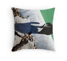 Penguin Shadow Throw Pillow