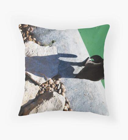 Penguin Shadow Throw Pillow