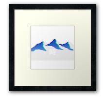 Vapor Mountain Framed Print