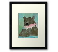 Fishing Fred Framed Print
