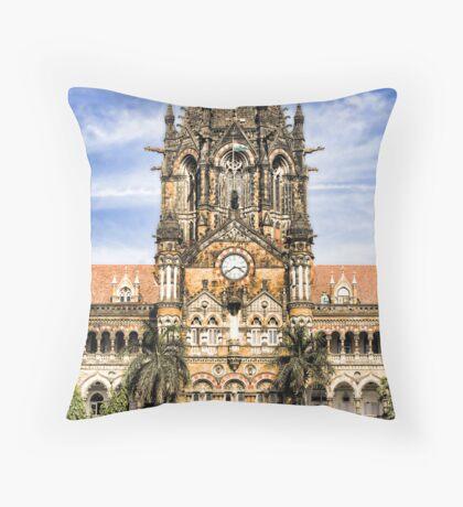 Victoria Terminus, Mumbai, India Throw Pillow