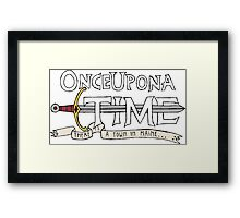 Once Upon Adventure Time Framed Print