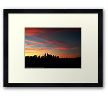 Big Sky Country Evening Framed Print